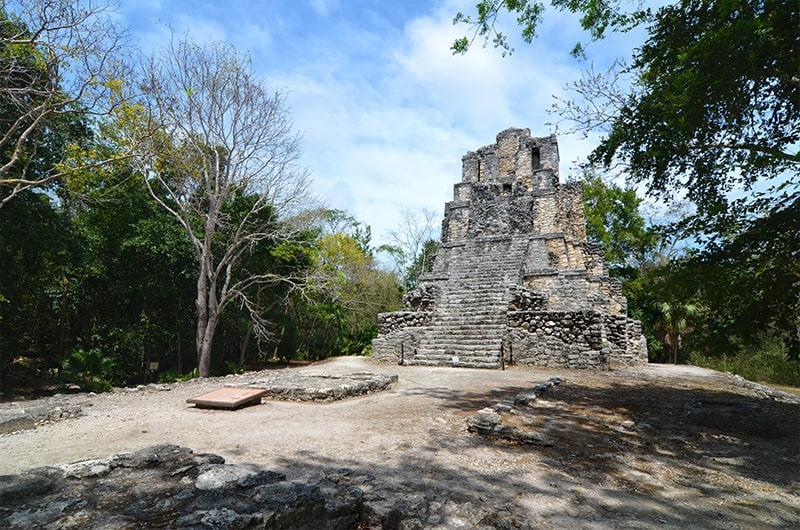 Les ruines de Muyil dans le Quintana Roo