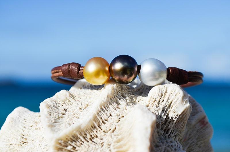 Bracelet perles de Tahiti - Saint-Barthélemy