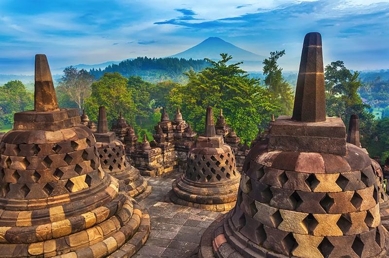 Top 5 des destinations en Indonésie - Temple Borobudur