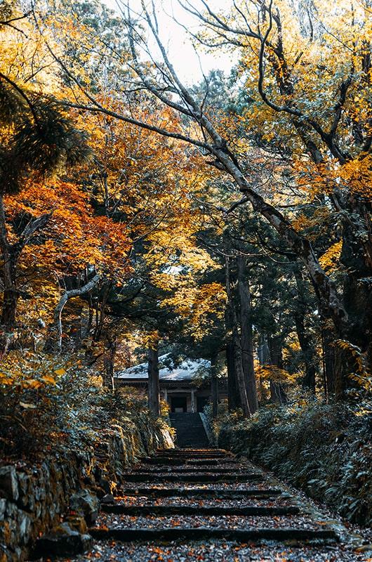 Le temple du Mont Daisen au Japon