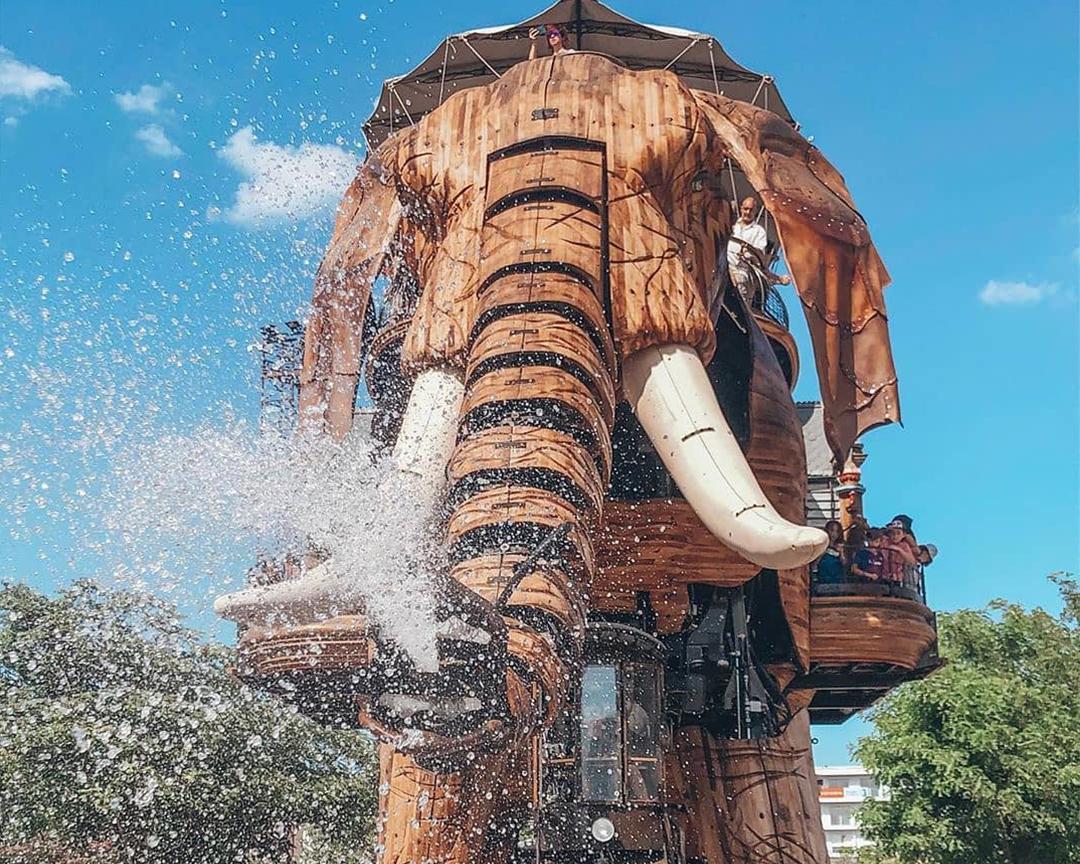 L'éléphant sur l'île de Nantes