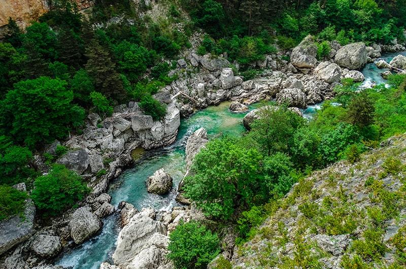 Zoom sur le parc naturel du Verdon