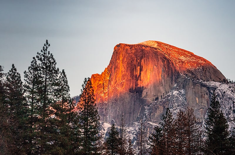 Le parc national de Yosemite, 'lune des meilleures destinations à visiter en Californie